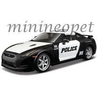 MAISTO 32512 2009 NISSAN SKYLINE GT-R R35 POLICE CAR 1/24 DIECAST BLACK WHITE