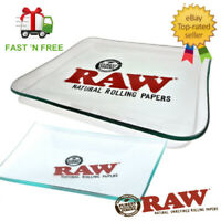 RAW GLASS ROLLING TRAY - Mini / Large - 4 X 6 OR 13 X 11 - Limited Edition