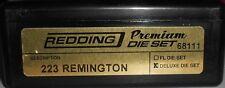 68111 REDDING 3-DIE PREMIUM DELUXE BOTTLE NECK SET - 223 REMINGTON - BRAND NEW