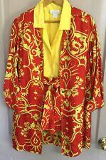 4 pc raw silk outfit, Donald Brooks Oscar nominated designer sz 4/6, 24� waist