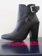 Buffalo Shoes scarpe donna stivaletti 100%Pelle nero con tacco tg.38 UK5 €129,00