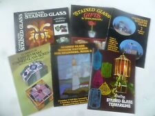 Lot of 6 Stained Glass Instruction Books: Patterns, Techniques, Designs