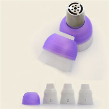 3 Color Cake Decorating Tools Icing Piping Cream Pastry Bag & Nozzle Converter