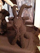 Black Baphomet Goat stuffed plush crochet handmade horror cute occult