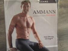 Ammann 3/4 lange Unterhose Gr. 6 mit Eingriff , Farbe Dunkelblau ungetragen,
