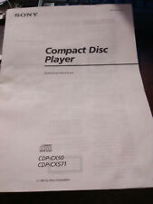New listing Sony Cdp-Cx50 Mega Storage Cd Compact Disc Player Operating Insturctions