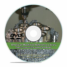 Machinist Journeyman Training Class Course, Learn How to Machine Books DVD V24