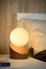 Moderne Tischleuchte Nachttischlampe Touch Schalter Holzoptik dunkel