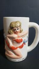 Rare Vintage 50s Risque Artmark Japan Kitsch Bikini Girl Ceramic Coffee Mug 3D