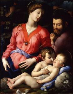 Agnolo Bronzino The Panciatichi Holy Family Giclee Canvas Print  Poster