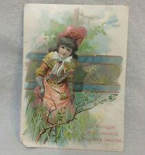 Lion Coffee Woolson Spice Company Trade Card Midsummer Greeting Victorian Toledo