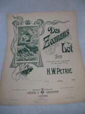 Des Zeemans Lot. H.W. Petrie. Anton J. Benjamin. 1º Siglo XX. Piano. 5 Págs.