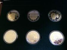 6 x 2 Euro PP Gedenkmünze Luxemburg 2009 - 2012 offizieller BCL KMS Proof BE