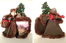 "Thomas Kinkade ""End of a Perfect Day"" Woodland Santa Figurine Collection"