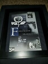 Fleetwood Mac As Long As You Follow Rare Original Radio Promo Poster Ad Framed!