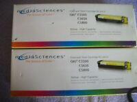 Lot of 2 Yellow Toner for Okidata Oki C5500 C5800 C5900 C5500N  High Capacity