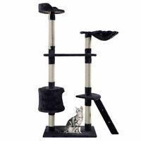 "New 60"" Cat Tree Tower Condo Scratcher Furniture Kitten Pet House Hammock Gray"