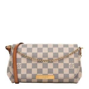 Louis Vuitton Damier Azur Favorite 2way Crossbody Bag 862920