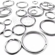 Split Rings Key Ring 15 20 24 25 30 32 35 mm - Pack Size 10 to 1000 keyring