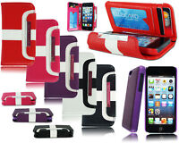 NEW STYLE 2 IN 1 LEATHER FLIP BOOK WALLET CASE COVER FOR VARIOUS MOBILE PHONES