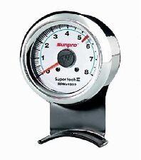 Sunpro 2 58 Inch Super Tachometer White Chrome Bezel Cp7911 Authorized Dist