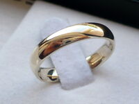 4mm 14K SOLID YELLOW GOLD MEN'S/ WOMEN'S WEDDING BAND RING SZ4-12FREE ENGRAVING