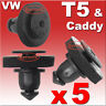 VW T5 Caddy SLIDING DOOR GUIDE RAIL COVER TRIM CLIPS EXTERIOR SIDE 7H0843658A