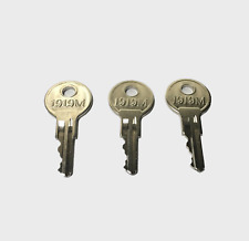 3pc key For EZGO Golf Cart Gas Electric 1982 Including TXT RXV (set of 3) 1919