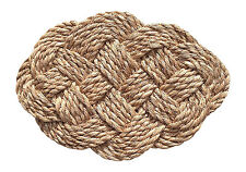 Large Oval Natural-Fiber Abaca (Manila Hemp) Doormat