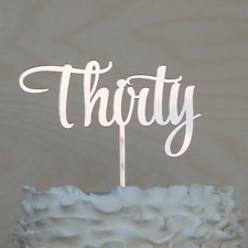 ROSE GOLD Thirty Cake Topper. 30 Birthday Cake decor in Rose Gold Mirror Acrylic