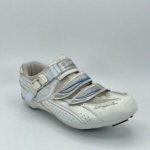 Shimano Womens SH-WR41 Pedaling Dynamics White 2 Bolt Cycling Shoes Size 7