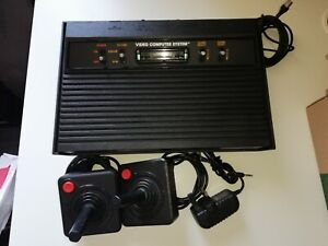 Atari 2600 Console, 2 Joysticks and new PSU. Working Darth Vader Model 4 Switch