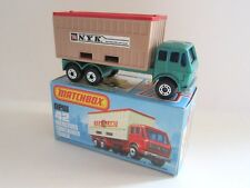 Matchbox Superfast 42c Mercedes Container Truck - Met Green - NYK - Mint/Boxed