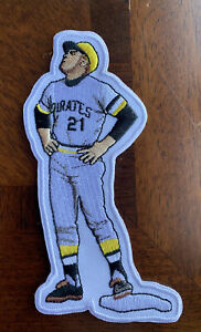 VARE RARE Roberto Clemente Pittsburgh Pirates 5in Iron Sew On Embroidered Patch
