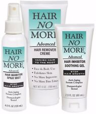 Hair No More Advanced Hair Removal 3-Piece System- Creme, Spray & Gel