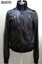 GUCCI leather jacket Madonna black bomber aviator slim Cristiano Ronaldo 1 nr S