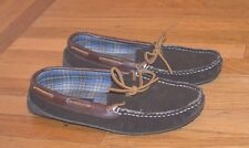 Club Room Men's Moccasin Slipper Memory Foam Faux Suede Mocha (Sz 7/8) Small