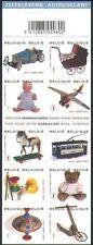 Belgium**VINTAGE TOYS-TRAIN-HORSE-DOLL-TEDDY BEAR-Booklet 10vals-2008-Jouets-MNH