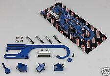 BLUE BILLET THROTTLE CABLE LINKAGE BRACKET CVR HOLLEY DEMON CHEV HOLDEN MOPAR