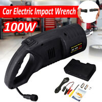 12V 100W Car Electric Impact Wrench 480Nm Change Tire Repair Tool With Sockets