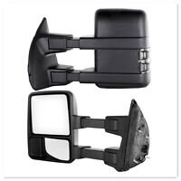 For 99-07 Ford Superduty F250-F550 Power+Heated+Smoke Turn Signal Towing Mirrors