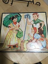RARE VINTAGE WHITMAN PUBLISHING CO PUZZLE WITH 2 GIRLS & A BOY PLAYING DRESS  UP
