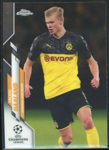 2019-20 Topps Chrome UEFA Champions League Erling Haaland Rookie #74 RC QTY
