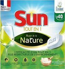 Sun 40 Tablettes Lave-Vaisselle Ecologique Tout-En-1 Nature Eco-Label BEKO BOSCH
