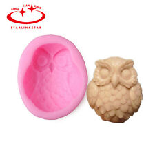 3D Owl Silicone Soap Mold Flexible Craft Mold DIY Handmade Soap/Candle Mould New