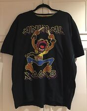 Next The Muppets Men's T-shirt With ANIMAL character On The Front Size XXL BLACK