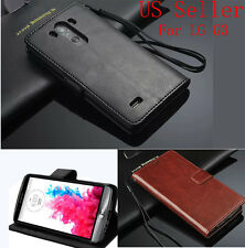 Luxury PU Leather Wallet Flip Cover Stand Case For LG Optimus G3