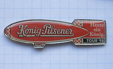 KÖNIG - PILSENER / ZEPPELIN groß  / DUISBURG .........Bier-Ballon-Pin (107k)