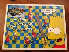 The Simpsons 3-D Chess Set Boxed Complete Vintage Board Game VGC