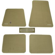 OEM NEW 2007-2011 Lincoln Town Car Camel Carpet Floor Mat Set Embroidered Logo
